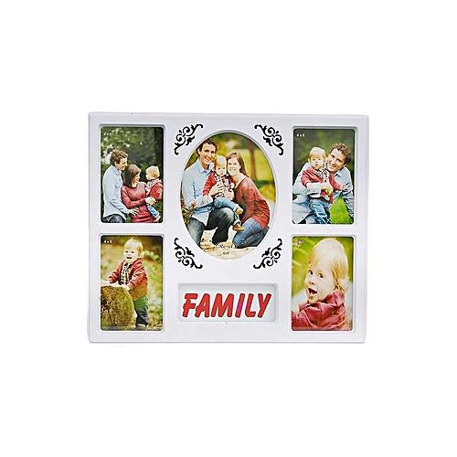 Buy EMA Family Photo Frame - 6 Portion - 4*6 - White @ Best Price ...