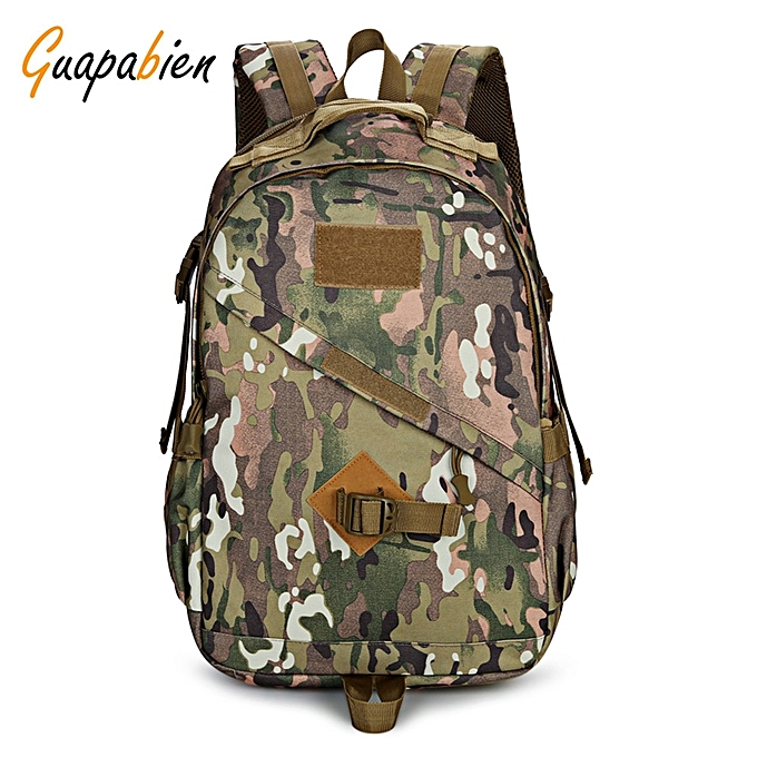 58361c636c88 Guapabien Water-resistant Outdoor Tactical Backpack Shoulders Bag-DIGITAL  WOODLAND CAMOUFLAGE