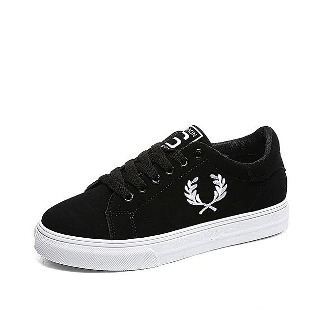 cc8d364fee59 Generic New Stylish Branch Photo Black Shoes Flat Running Shoes ...