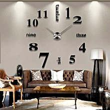 Large Quartz Wall Clock Movement DIY Hands Mechanism Repair Parts Tool Kit Decor - Black
