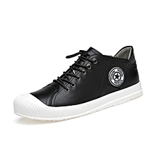 Genuine Leather Men Casual Shoes (Black)