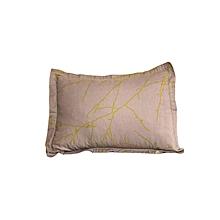 2Pc - Decorative Pillow & Case Set - Grey