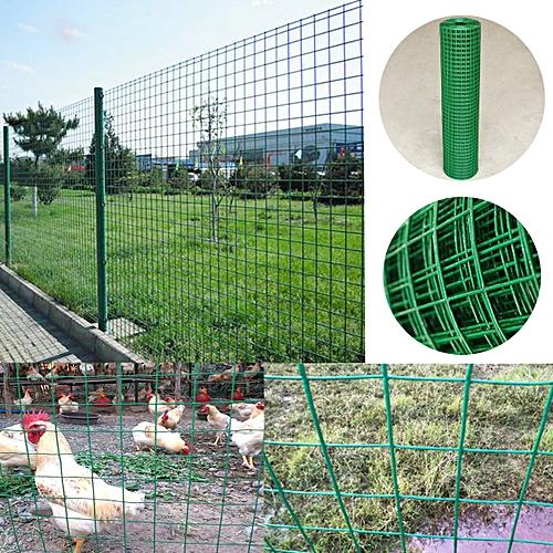 PVC Coated Green Chicken Rabbit Wire 30m 2 widths Mesh Aviary Fencing  Garden UK-1 2m