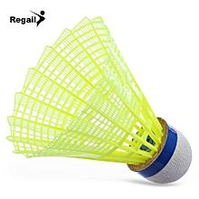 Regail 600 6pcs / Set Gym Exercise Training Nylon Badminton Ball Yellow
