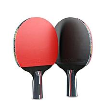 Pair Of 3 Stars Table Tennis Racket Ping Pong Bat w/ 3 Balls + Carrying Bags Set # Horizontal racket