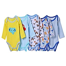 33ffff423 Carter's 5 Pack Assorted Boys Long Sleeved Cotton Bodysuit-Different  colors