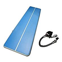 UL Inflatable Gym Mat Air Floor Tumbling Track Gymnastics Cheerleading Pad Blue & White