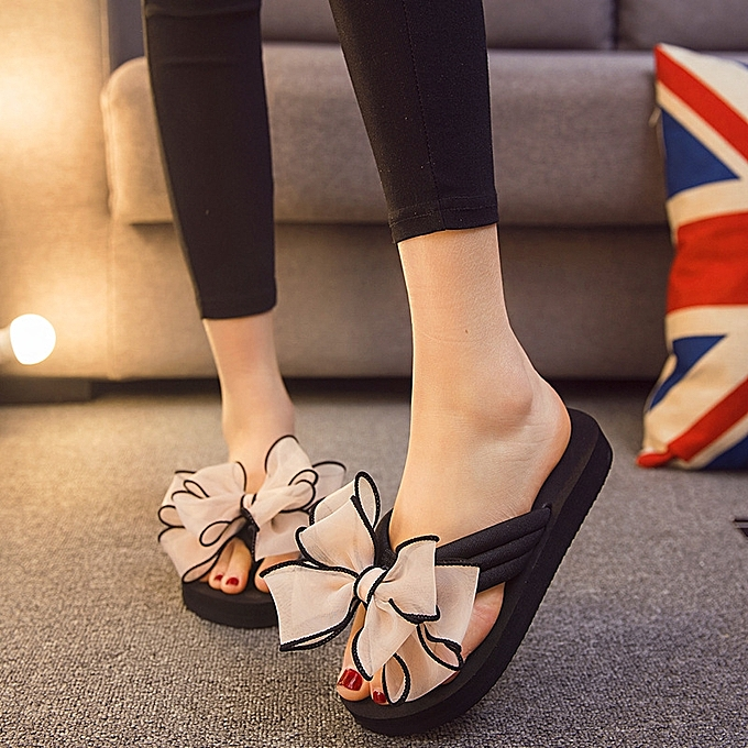 7bed7d35bcb Sandals and slippers female summer new flat with Korean students wild fashion  wear thick bottom non