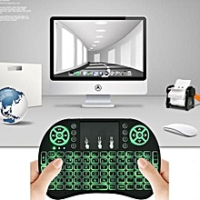 Android Box Wireless Mini Keyboard 2.4G with TouchPad Mouse For Smart TV - Black