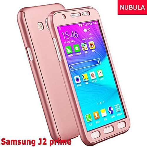 Generic Phone Case For Samsung Galaxy J2 Prime 360 Degree Real Full Body Ultra-thin Hard Slim PC Protective Case Cover With Tempered Glass 288353 Color-1