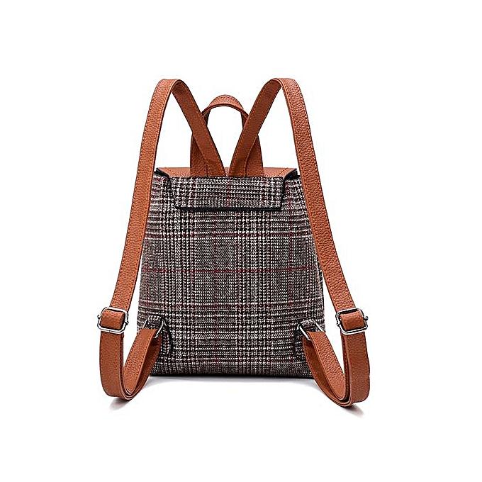cff49e5ff8fe ... Zetenis Women Girl Leather Rucksack Shoulder Bookbags School Bag  Satchel Travel Backpack -Brown ...