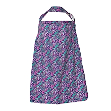 Purple And Green Large Tear Drop Print Nursing / Breastfeeding Cover With Carrier Case
