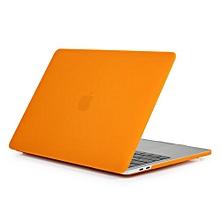 "15"" Pro (USB-C Port) Case, Matt Hard Rubberized Cover For 2016-2018 Macbook 15.4 Pro With Touch Bar, Orange"