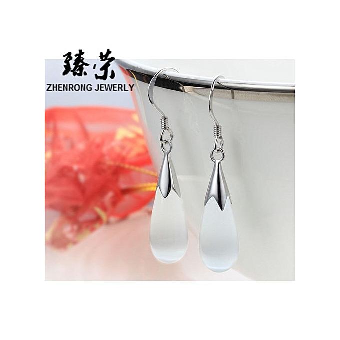 3306d1275 Nice Droplet earrings jewelry silver natural crystal earrings drop-pink