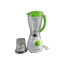 Blender with Grinder - 1.5 L - White & Light Green .