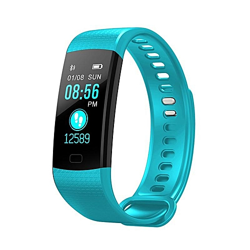 Y5 Smart Band Watch Color Screen Wristband H eart R ate Activity Fitness  Tracker Smartband Electronics Bracelet (Light blue) BRAVE
