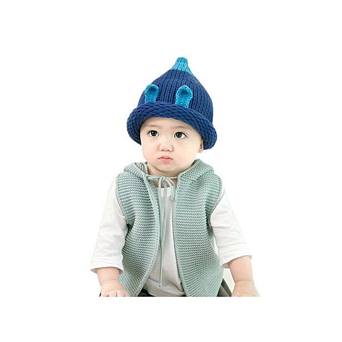 b553c7f2b5d Braveayong Baby Toddler Kids Boy Girl Knitted Crochet Ear Beanie Winter  Warm Hat Cap BU -