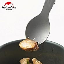 Naturehike Outdoor Camping Titanium Fork Travel Ultralight Folding Spoon Picnic Cooking Tableware