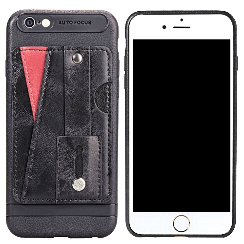 competitive price 5d5e0 fea32 iPhone 6S Case,Slim Durable Sleek Leather Wallet Back Cover with Credit  Card Slots Kickstand and Wrist Strap Shockproof Stand Phone Case for Apple  ...