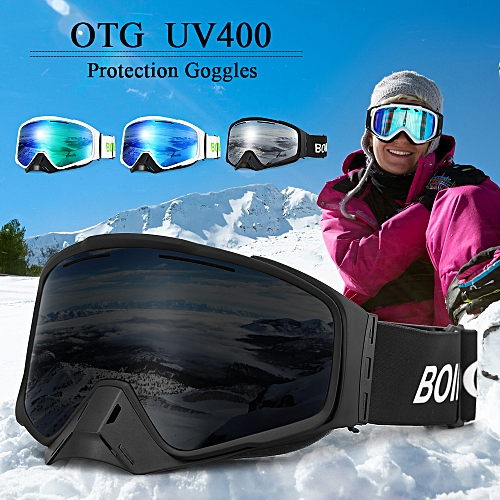 0a53840f8c Anti-fogging Goggle Skiing UV400 Protective Goggles Detachable Magnetic  Goggles Climbing Skating Snow Sports Motorcycling OTG Goggles for Men Women