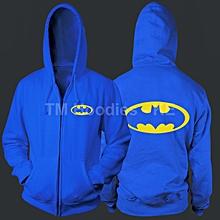 Royal Blue Long Sleeved Unisex  Zip Hoodie