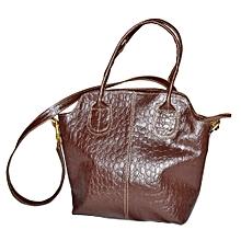 Dark Brown Flowered Edith's Handbag