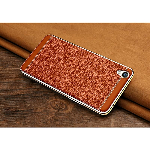 Litchi Pattern Leather Phone Case Soft PC Protective Back Cover For OPPO A37