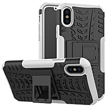 "For IPhone X Case, Hard PC+Soft TPU Shockproof Tough Dual Layer Cover Shell For 5.8"" IPhone X, White"