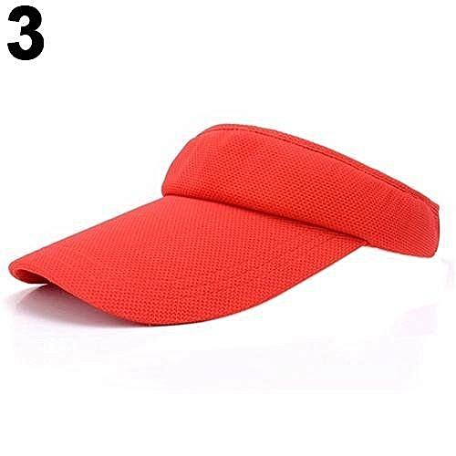 74a5fa96658 Bluelans Women s Adjustable Plain Sports Mesh Visor Cap (Red)   Best ...