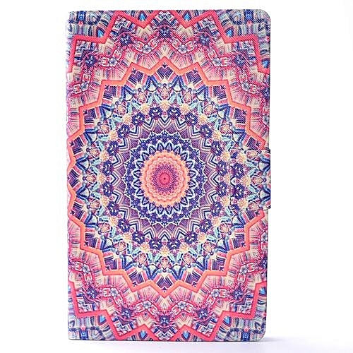For Amazon Kindle Fire HD 8 2016 Patterned Leather Back Rotated Stand Case Cover