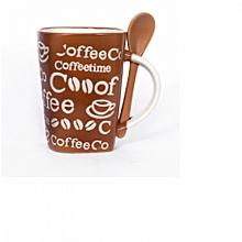 Coffee Gift Mug- Light Brown