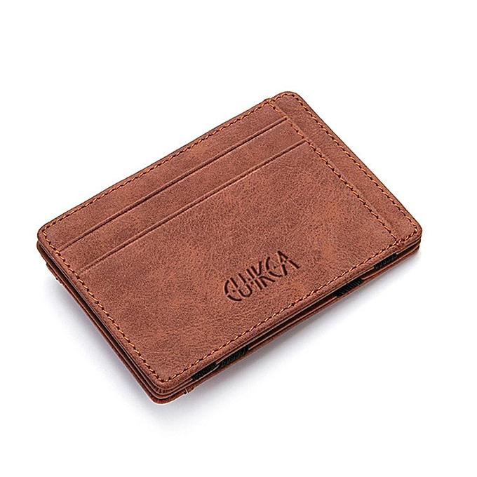 3 Colors Men Slim Billfold Wallet PU Leather Credit Card Holder Coin Money Clip Zip Bag