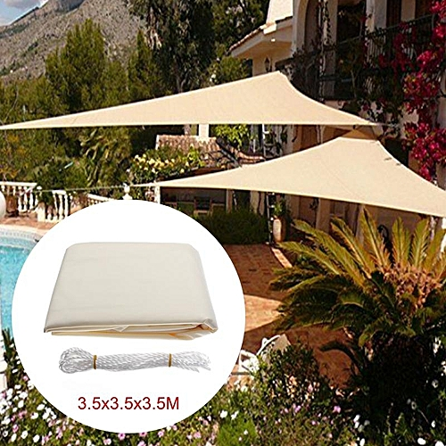 bf1cbcee246c Generic 12FT Sun Shade Sail Cloth Triangle Outdoor Canopy Awning Waterproof  90% UV Block