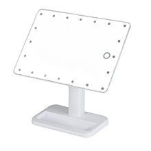 20 LED Lights Vanity Makeup Mirror Touch Screen Lighted Tabletop Cosmetic Mirror