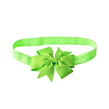 Babies Pure Color Bowknot Hairband - Green