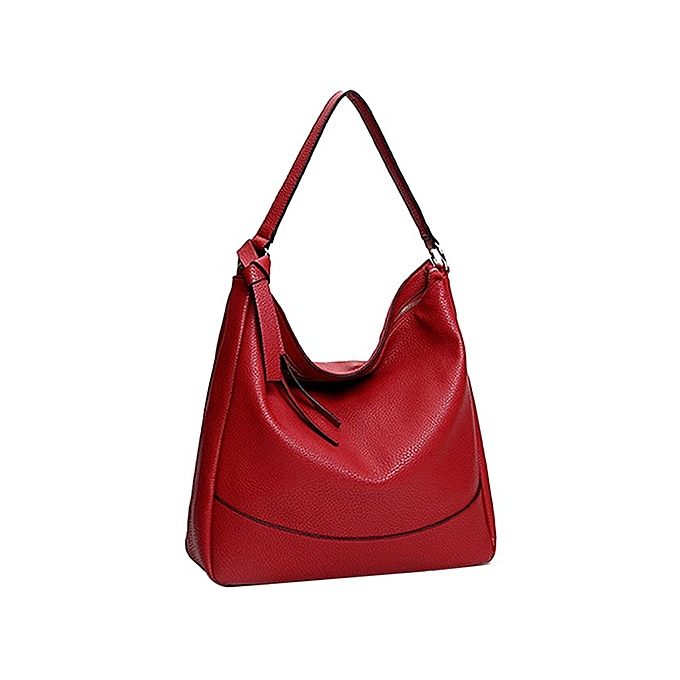 Women S Soft Pu Leather Tote Handbag Slouchy Hobo Shoulder Bag Wine Red