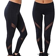 Tectores Women High Waist Sexy Skinny Leggings Patchwork Mesh Push Up Yoga Pants Gift