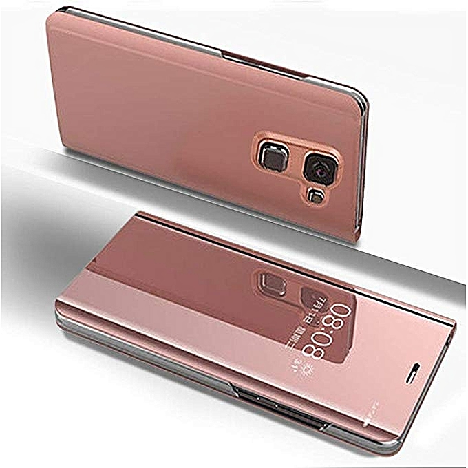 100% authentic 78c4b 7d539 Samsung Galaxy J8(2018) Leather Case, Pu Leather Flip Case Cover For  Samsung Galaxy J8(2018) With Stand Function And Plating Mirror - Rose Gold.