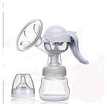 Healthy Manual Breast Pump + Free Baby Bottle Cap cream/white
