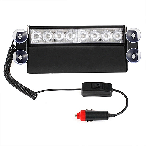 GB 8 LED Red/Blue Car Police Strobe Flash Light Dash Emergency Flashing  Lamp-Red and Blue