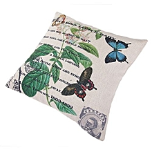 Unisex Early Spring Square Linen Pillow - White