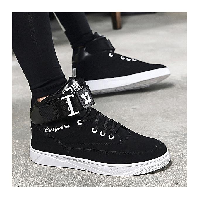 Shoes men s shoes black and white color matching magic stickers color tide  men s casual sports shoes 0b27fc4238d54