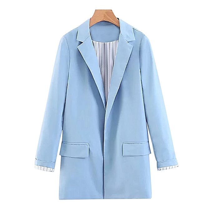 e346f133d4361 Fashion Leadsmart Turn-down Collar Long Sleeve Solid Color Pocket Women Suit
