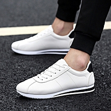 Men's shoes running shoes casual light tie sneakers color matching tide men's shoes breathable shoes-black