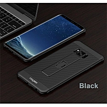 Samsung S8 Phone Cases With Hidden Ring Stand Soft Breathing Cover For Samsung S8 Cases Heat Cooling Case - Black