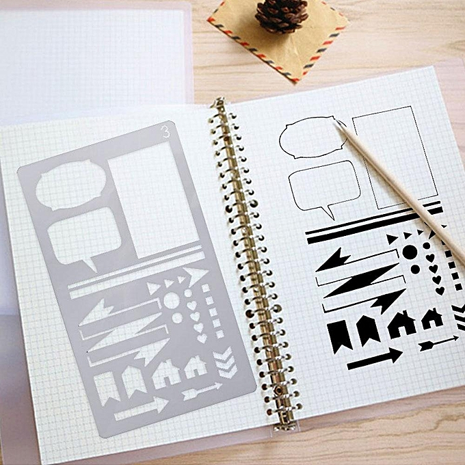 Buy Louis will 20 Pcs Journal Stencil Set DIY Drawing Template For ...