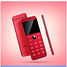 Mini Phone Metal Ultra thin Bluetooth 2.0 Dialer MP3 Dual SIM Card Mini Phone 1.54Inch Phone-red