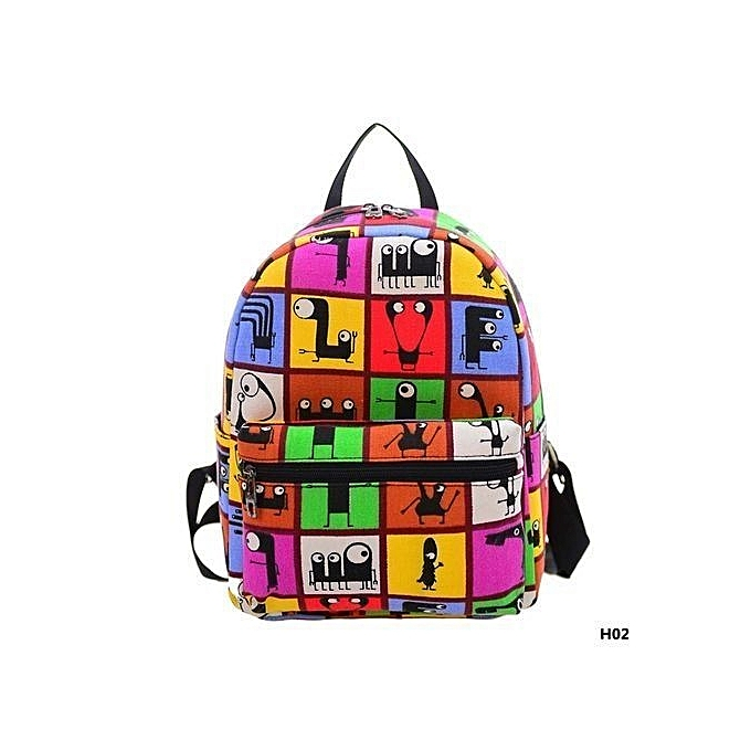 Fashion Hequeen Women Cute Mini Floral Backpack Leather Zipper School Bag Satchel Travel Shoulder Bags