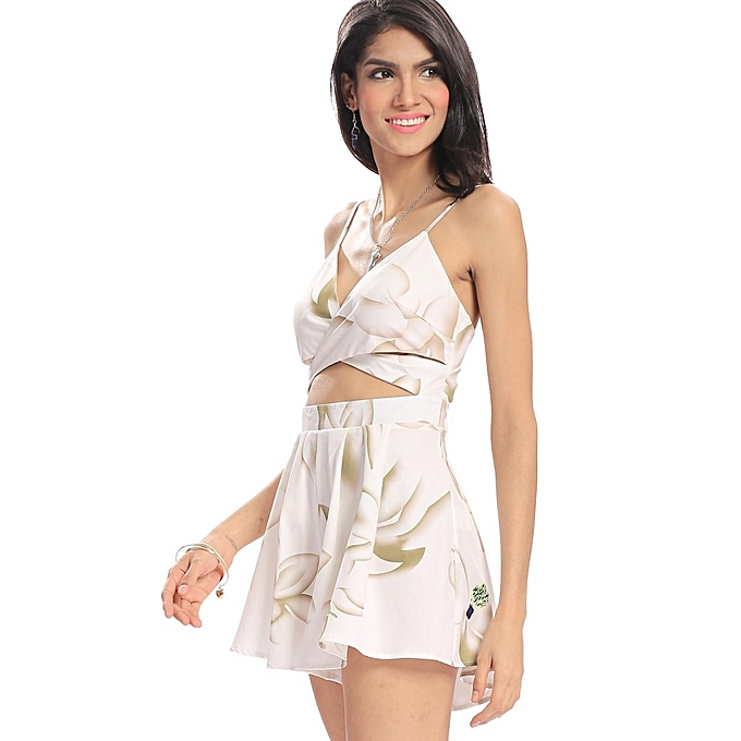 ca5554aae5 ... Yoins Women New High Fashion Clothing Casual V-neck Sleeveless Floral  Print Playsuit with Cut ...