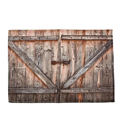 Generic 72X72 Rustic Wooden Barn Door Shower Curtain Bathroom Decor Waterproof Fabric